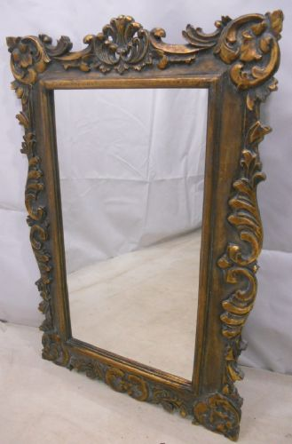Carved Ornate Gilt Hanging Wall Mirror
